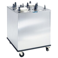 Lakeside 5407 Stainless Steel Enclosed Four Stack Non-Heated Plate Dispenser for 6 5/8 inch to 7 1/4 inch Plates