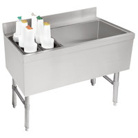 Advance Tabco CRCI-48R-7 Stainless Steel Ice Bin and Storage Rack Combo with 7-Circuit Cold Plate - 48 inch x 21 inch (Right Side Ice Bin)