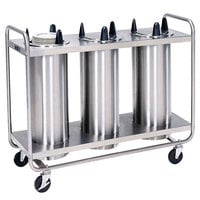 Lakeside 7306 Stainless Steel Open Base Non-Heated Three Stack Plate Dispenser for 5 7/8 inch to 6 1/2 inch Plates