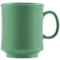 GET TM-1308-FG Diamond Mardi Gras 8 oz. Rainforest Green Tritan Stacking Mug - 24/Case