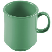 GET TM-1308-FG Mardi Gras 8 oz. Rainforest Green Tritan Stacking Mug - 24/Case