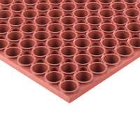 Notrax T13S0035RD T13 Tek-Tough 3' x 5' Red Grease-Resistant Rubber Mat - 7/8 inch Thick