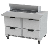 Beverage-Air SPED48HC-10C-4 48 inch 4 Drawer Cutting Top Refrigerated Sandwich Prep Table with 17 inch Wide Cutting Board