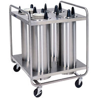 Lakeside 7407 Stainless Steel Open Base Non-Heated Four Stack Plate Dispenser for 6 5/8 inch to 7 1/4 inch Plates