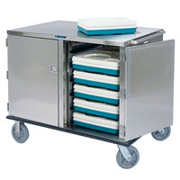 Lakeside 836 Premier Series Stainless Steel Low Profile Tray Cart - 28 Tray Capacity