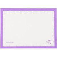 Mercer M31093PU Allergen Safe™ Half Size Purple Silicone Mat - 11 7/8 inch x 16 1/2 inch
