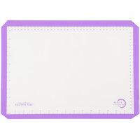 Mercer Culinary M31093PU Allergen Safe™ Half Size Purple Silicone Baking Mat - 11 7/8 inch x 16 1/2 inch