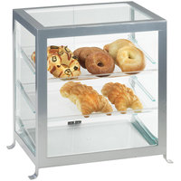 Cal-Mil 1575-74 Soho Three Tier Silver Display Case with Rear Doors - 21 1/4 inch x 15 3/4 inch x 20 3/4 inch