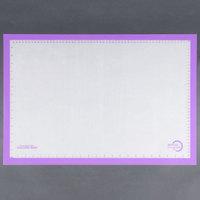 Mercer M31087PU Allergen Safe™ Full Size Purple Silicone Mat - 16 1/2 inch x 24 1/2 inch