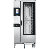 Convotherm C4ET20.10GS Natural Gas Half Size Roll-In Boilerless Combi Oven with easyTouch Controls - 136,500 BTU