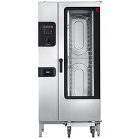 Convotherm C4ED20.10GS Natural Gas Half Size Roll-In Boilerless Combi Oven with easyDial Controls - 136,500 BTU