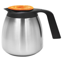 Curtis CLXP6401S100D 1.9 Liter Stainless Steel Decaf Coffee Server with Brew-Thru Lid - 6/Case