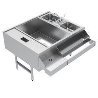 Advance Tabco CR-42X36-7-L Stainless Steel Pass-Through Workstation (Left Side Ice Bin)