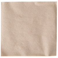 12 inch x 12 inch Natural Kraft 1/4 Fold Luncheon Napkin - 750/Pack