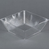 American Metalcraft CRGSQ117 228 oz. Square Clear Rain-Splashed Styrene Bowl