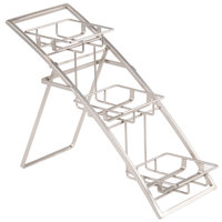 American Metalcraft TASSM Folding Three-Tier Small Chrome Arch Display Stand