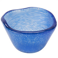 American Metalcraft ORSRBL 2.5 oz. Blue Round Organza Glass Sauce Cup