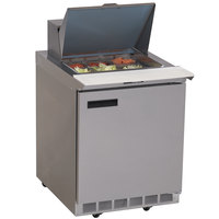 Delfield 4427N-12M 27 inch Mega Top Twelve Pan Sandwich / Salad Prep Refrigerator - Solid Door