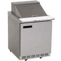 Delfield 4427N-12M 27 inch 1 Door Mega Top Refrigerated Sandwich Prep Table