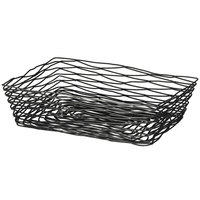 Tablecraft BK17212 Artisan Rectangular Black Wire Basket - 12 inch x 9 inch x 3 1/2 inch
