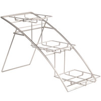 American Metalcraft TASMED Folding Three Tier Chrome Arch Stand