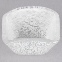American Metalcraft ORSSW 2 oz. White Square Organza Glass Sauce Cup