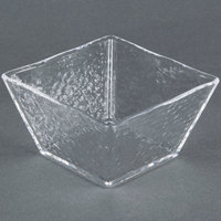American Metalcraft CRGSQ53 23 oz. Square Clear Rain-Splashed Styrene Bowl