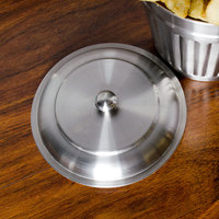 American Metalcraft OLID3 6 inch Mini Stainless Steel Trash Can Lid for OSCAR3