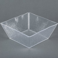 American Metalcraft CRGSQ94 125 oz. Square Clear Rain-Splashed Styrene Bowl