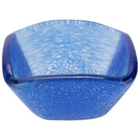 American Metalcraft ORSSBL 2 oz. Blue Square Organza Glass Sauce Cup