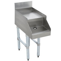 Advance Tabco SL-DB-12 Stainless Steel Double Step Blender Station - 12 inch x 23 inch