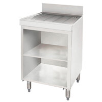 Advance Tabco CRD-3B Stainless Steel Drainboard Storage Cabinet - 36 inch x 21 inch