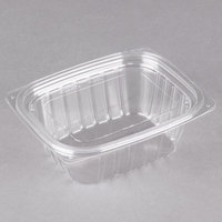 Dart Solo C12DCPR ClearPac 12 oz. Clear Rectangular Plastic Container with Lid - 252/Case