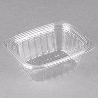 Dart C12DCPR ClearPac 12 oz. Clear Rectangular Plastic Container with Lid - 252/Case