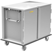 Alluserv TC22-28 Elite Stainless Steel 28 Tray 2 Door Meal Delivery Cart