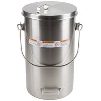 Vollrath 59200 20 qt. Stainless Steel Covered Ice Cream Pail with Hook-On Cover
