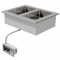Advance Tabco DISW-2 Stainless Steel Two Well Drop-In Sealed Electric Unit - 120V