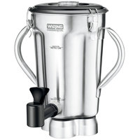 Waring CAC125 1 Gallon Stainless Steel Container with Blade Assembly, Lid, and Spigot for CB10 and CB15 Blenders