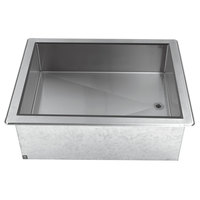 Advance Tabco DICP-4 Stainless Steel Four Pan Size Drop-In Ice Cooled Unit