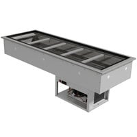 Advance Tabco DIRCP-5 Stainless Steel Five Pan Drop-In Refrigerated Cold Pan Unit