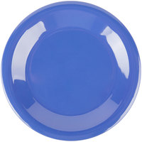 Carlisle 3301814 Sierrus 6 1/2 inch Ocean Blue Wide Rim Melamine Pie Plate   - 48/Case
