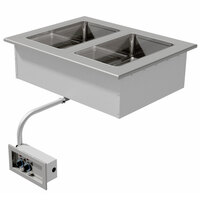 Advance Tabco DISW-2 Stainless Steel Two Well Drop-In Sealed Electric Unit