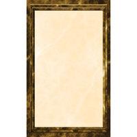 8 1/2 inch x 14 inch Brown Menu Paper - Marble Border - 100/Pack