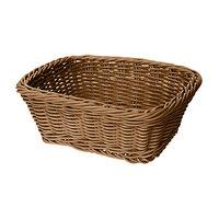 GET WB-1506-H 9 1/2 inch x 7 3/4 inch x 3 1/2 inch Designer Polyweave Honey Rectangular Basket - 12/Case