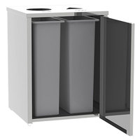 Lakeside 3312 Stainless Steel Refuse / Recycle Station with Top Access - 26 1/2 inch x 23 1/4 inch x 34 1/2 inch