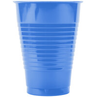 Creative Converting 28145071 12 oz. True Blue Plastic Cup - 240/Case