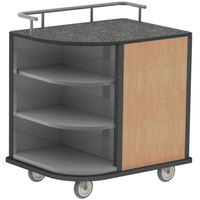 Lakeside 8713 Stainless Steel Self-Serve Compact Hydration Cart with 3 Corner Shelves - 35 inch x 26 inch x 38 inch