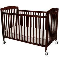 L.A. Baby CS-983-A-C 28 inch x 52 inch Cherry Wood Folding Crib