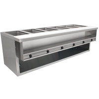 Advance Tabco HDSW-6-240-BS Stainless Steel Heavy-Duty Six Pan Electric Sealed Table with Enclosed Base - 208/240V