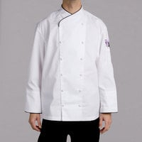 Chef Revival Gold J008-4X Men's Chef-Tex Size 60 (4X) Customizable Poly-Cotton Corporate Chef Jacket with Black Piping